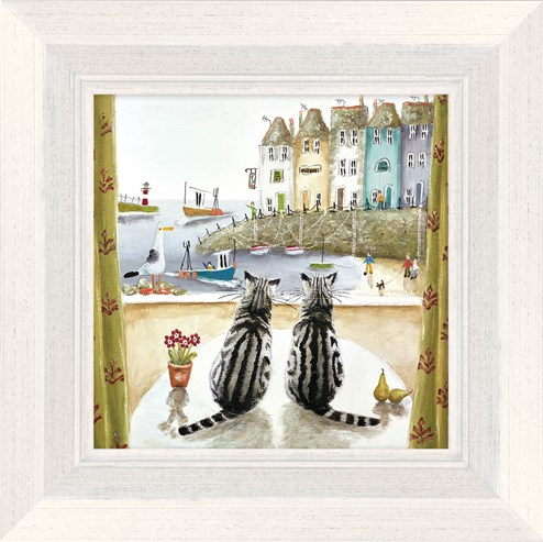 Two of a Kind by Rebecca Lardner - Framed Limited Edition on Canvas